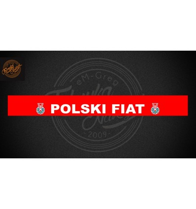 Pas Polski Fiat 126p cerwony