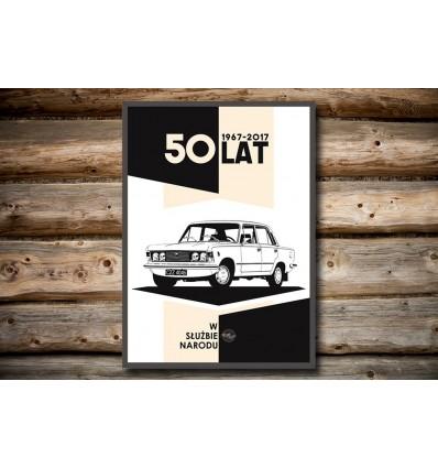 Plakat 125p - 50 lat
