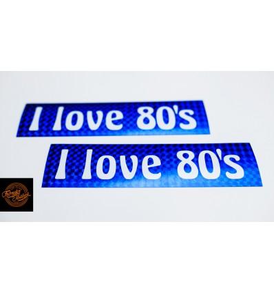 I love 80's - niebieska