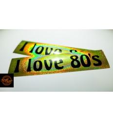 I love 80's - złota