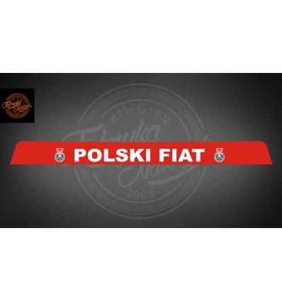Pas Polski Fiat 125p czerwony