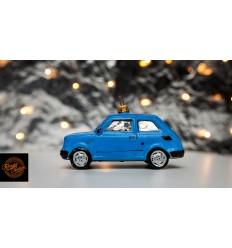 Bombka Fiat 126p Niebieska