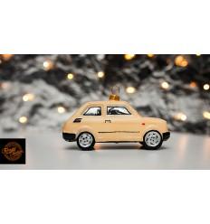 Bombka Fiat 126p Kremowa