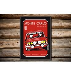 Plakat Fiat 125p Monte Carlo