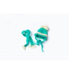 Mercedes - czapka i szalik - zielona