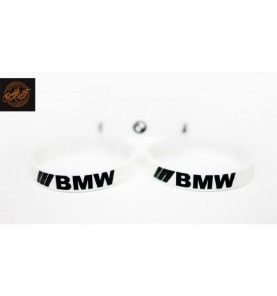 Opaska silikonowa BMW - biała