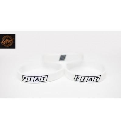 Opaska silikonowa FIAT - biała