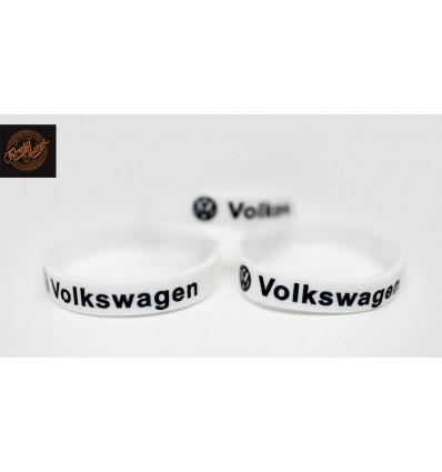 Opaska silikonowa VW - biała