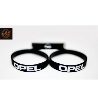 Opaska silikonowa OPEL - czarna