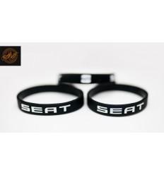 Opaska silikonowa SEAT - czarna