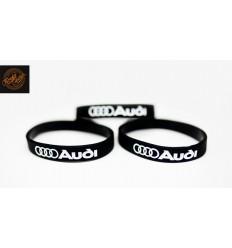 Opaska silikonowa Audi - czarna